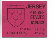 JERSEY 1986 Messervy £3.12 Stamp Booklet - SB 37