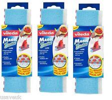 3 x Vileda Magic Sponge Mop Head Angled Refill - 139963 - 3 Pack Refills