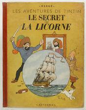 Le Secret de la Licorne. Les Aventures de Tintin. HERGE. EO 1943, A20. TBE