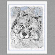 6 Keeshond Bethany Dog Blank Art Note Greeting Cards
