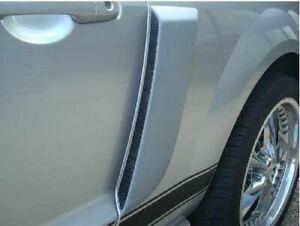 Fits: FORD MUSTANG 2005-2009 Window Louvers (with ABS Plastic Grill) PRIMER
