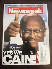 Newsweek Magazine October 2011 Herman Cain Unlikely Rise of the Anti Obama