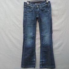 Miss Sixty Boot Cut Womens  Jeans Size 29 Dark Distressed Wash