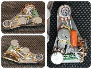 Fender Stratocaster Strat Neck Bridge Blend wiring loom harness upgrade kit