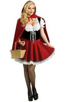 Ladies Little Red Riding Hood Halloween Costume Party Cosplay Fancy Dress New