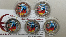 5 x 2 euro 2019 ADFGJ GERMANIA color farbe couleur Deutschland Germany Allemagne