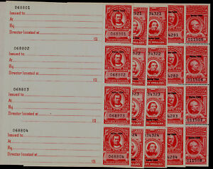 R679a-683a, VF Mint Complete sheet set of 1954