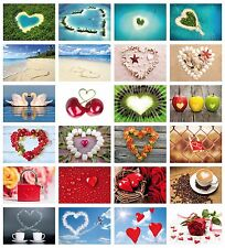 Love-Cards: 24-er Postcards Set Love with Hearts for Wedding, Wedding Game
