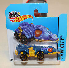 2014 Hot Wheels Hw City #53 Fangster Blue Treasure Hunt Th New Sc