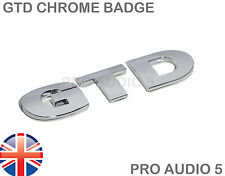 GTD Chrome Boot Badge - Turbo Diesl Car Van VW Golf Badge - UK Fast Post
