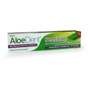 Aloe Dent Sensitive Fluoride Free Toothpaste 100ml - Multiple Packs