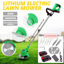 More details for new cordless 24v lawn weed cutter grass trimmer portable electric mower pruning