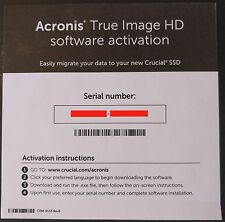 Acronis True Image HD Software Activation -  Genuine OEM