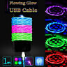 LED Light-up Flowing Glow USB Data Sync Charger Cable For iPhone Android Phone-W