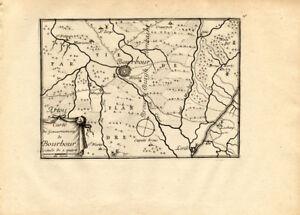 Antique Map-BOURBOURG-BURBURG-FRANCE-Beaulieu-1667