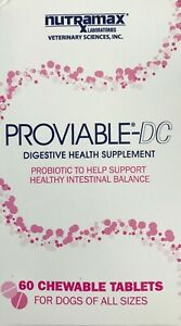 NUTRAMAX PROVIABLE-DC Digestive Health Supplement For Dogs 60 Tabs EXP 03 / 23