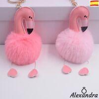 Llavero Colgante Mujer Flamingo Flamenco Accesorio Bolsos Mochilas Llave Regalo