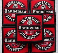 HANNEMAN ANGEL OF DEATH STILL REIGNING 1964-2013 RED TRIBUTE PATCH Aufnäher JEFF