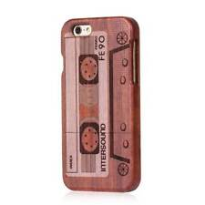 Tape Natural Wood Bamboo Phone Case Back Cover+Film for i Phone 6 Plus 6s Plus