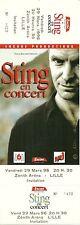 RARE / TICKET BILLET CONCERT - STING ( THE POLICE ) : LIVE LILLE ( FRANCE ) 1996