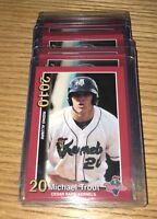 (5) Mike Trout Rc 2010 MINOR LEAGUE Cedar Rapids #2 Rookie card Mint Lot.