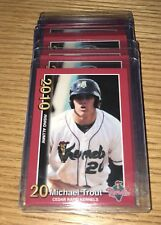 (5) Mike Trout Rc 2010 MINOR LEAGUE Cedar Rapids #2 Rookie card Mint Lot.