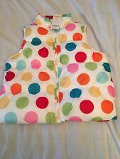 Gymboree Size 7-8 White Vest With Rainbow Polka Dots