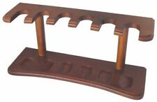 Pipe Rack/Holder/Stand - Walnut Finish - Holds 6 Pipes (1052)