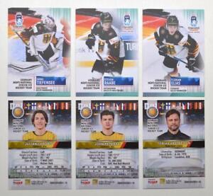 2021 BY cards IIHF U20 World Championship Team Germany Pick a Player Card
