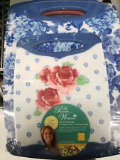 Pioneer Woman Heritage Floral 2-Pc Non-Slip Cutting Board Set Blue White Pink