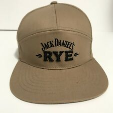 Jack Daniels Rye Embroidered Black Hat Adjustable Size Alcohol Whiskey Rye Cap