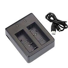 Dual USB Charger per SJCAM sj4000 sj5000 sj6000 sj7000 BATTERIA DELLA FOTOCAMERA SPORT UK