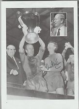 Signed picture of Manchester United players BOBBY CHARLTON & ALEX STEPNEY