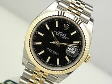 Rolex Datejust 41mm 126333 Two Tone Steel & Gold Jubilee Black Index Watch