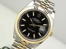 Rolex DATEJUST II 126333 Mens Steel & Yellow Gold Jubilee Bracelet Black 41MM