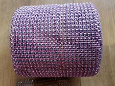 24 Row pink lilac Diamonte Crystal Effect Rhinestone Cake Decoration Ribbon Mesh