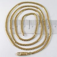 MASSIVE 18K GOLD GOURMETTE CUBAN CURB CHAIN 2.8 MM 24 IN. NECKLACE MADE IN ITALY