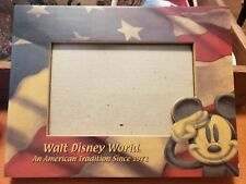 Walt Disney World An American Tradition Mickey Mouse USA Flag Picture Frame 4x6