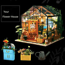 DIY Wooden Flower House- Dolls House Furniture and Accessories Miniature Gift