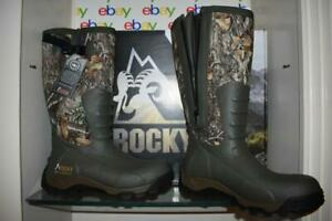 Rocky Men's Sport Pro Rubber Boots RKS0383 Realtree EDGE Size 11 NIB