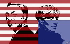 House of Cards Robin Wright Kevin Spacey Pop Art Ltd. Ed. Print Signed by Artist