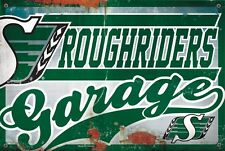 SASKATCHEWAN ROUGHRIDERS GARAGE SIGN