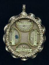 old silver relic theca SS.ALOYSII GONZAGA ANDR.AVELLINI STANISL.KOSTKA CAJETANI