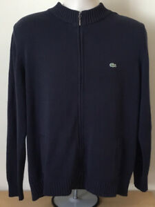 LACOSTE Full Zip Jumper - Size 5 Large - Navy - Great Condition