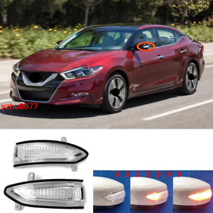 2016-2020 For Nissan Maxima  LED Sequential Flashing Rearview Mirror Turn Signal