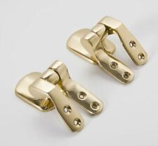 Pair of Genuine Solid Brass Replacement Toilet Seat Hinges Without Bar