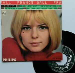 """EP 45T France Gall   """"Baby pop"""" - (EX/TB)"""