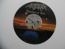1990 Anthrax Persistence Of Time Record Store Hanging Promo Spinner Sign Vintage