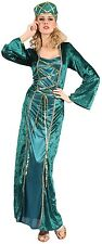 Ladies Renaissance Lady In Waiting Queen Fancy Dress Costume Outfit 10-14