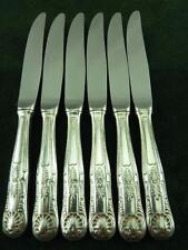 6 cuchillos de buen Vintage Epns Postre lado Reyes patrón plateado #2
